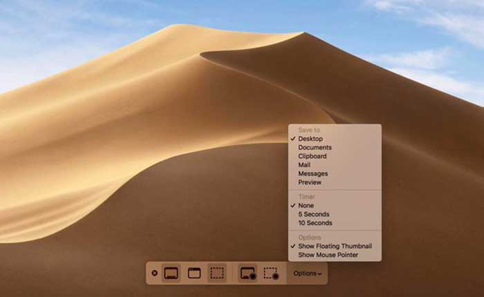 Review macOS Terbaru - Mojave Screenshot Tools